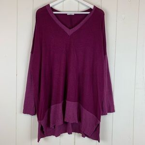 Jodifl Tunic Sweater Top 2X Plus Size Purple